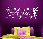 Personalised Name Fairy Wall Art Stickers Quote Girls Bedroom Nursery Home Decor