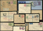 INDIA KG5th + KG6th COVERS STATIONERY UPRATED POSTMARKS etc.. PRICED SINGLY