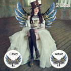 Halloween Steampunk Style Gear Wings Role Playing Unisex for Children Adu RAS