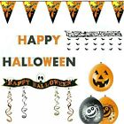HALLOWEEN PARTY DECORATIONS BANNER GARLAND BALLOONS HORROR SCARY DECOR