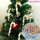 10PCS 3D Christmas Candy Cane Pendant Hanging Ornament Xmas Tree Party Decor