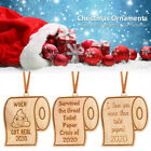 2020 Christmas Ornament Toilet Paper Pendant New Year Gift Home Decoration