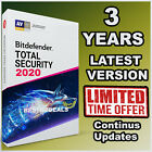 BITDEFENDER TOTAL SECURITY -  3 YEARS ACTIVATION - DOWNLOAD - DAILY UPDATES
