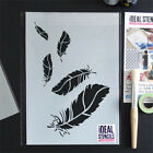 Falling Feathers Stencil Home Decorating Paint Fabrics Furniture Craft Reusable