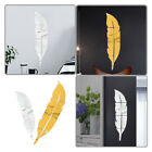 Feather Mirror Tiles Wall Stickers Self Adhesive Decor Stick On Art Home Decal