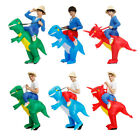 Adult Kid Party Inflatable Dinosaur Riding Costume Halloween Dress Cosplay Prop