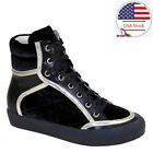 Brieten Women's Lace Up High Top Ankle Boots Flat Fashion Causal Sneakers