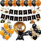 Halloween Pumpkin Spider Garland Hanging Ghost Paper Festive Home Party Decora