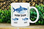 Papaw Gift, Personalized Papaw Shark Mug with Kids Names, Gift Ideas For Papaw