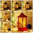 Christmas Decor LED Light Up Lantern Xmas Santa Claus Table Lamp Ornament