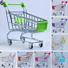 Mini Shopping Cart Supermarket Trolley Desk Storage Pet Bird Toy Basket 8 Colors