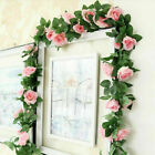 16Heads 7Ft Artificial Faux Silk Flower Rose Leaf Garland Vine Home Party Decor