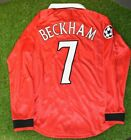 MANCHESTER UNITED  BECKHAM 1999 CHAMPIONS LEAGUE retro jersey