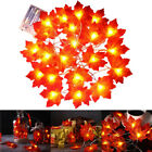 30/40/80 LED Lamp Maple Leaves Ornament Decorations Christmas Artificial Garland