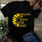 Sunflower Girl With Tattoos Pretty Eyes And Thick Thighs Sunflower Girl Tshirt
