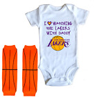 Los Angeles Lakers Baby Bodysuit Shirt Leggings Love Watching With