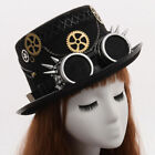 Victoria Top Hat Steampunk Hat with Goggles Halloween Cosplay Costume Vintage