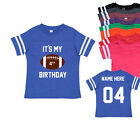 Personalized 4th Birthday Football Jersey Toddler Shirt Fourth