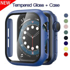 Tempered Glass Screen Protector Cover Case For Apple Watch Series 6 SE 5 4 3 2 1