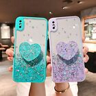 Glitter Bling Heart Holder Phone Case Cover for iPhone 12 11 Pro Max X XR XS 7 8