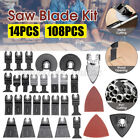 14/108Pcs Oscillating Multi Tool Woodworking Saw Blade Cutter Grinding  =&*