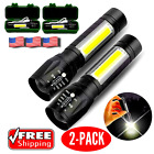 High Power Military Tactical Rechargeable LED Flashlight With Lamp   ( 2 PACK )