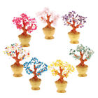 7'' Tall Crystal Lucky Money Tree Figurine Feng Shui Home Office Decor Gift