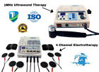 1 mhz Ultrasound Therapy Unit and 4 Channel Electrotherapy Unit Multi Therapy fd