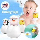 Bath Toy Duck Duckie Penguin Egg Water Spray Sprinkler Baby Babe Kids Gift