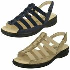 Padders Ladies Wide Fit Strappy Sandals Lesley