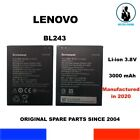 GENUINE BATTERY BL243 LENOVO LEMON K3 NOTE K50-T5 A7000 A7600-M OEM 3000mAh NEW