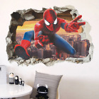 Spiderman Super Heroes Wall Stickers For Kids Room Decoration Home Bedroom Decor