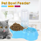 Double Bowl Pet Dog Cat Automatic Drinking Water Feeder Food Dispenser  L
