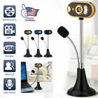 BEST 720P USB Webcam Web Camera with Microphone LED light for PC Desktop Laptop