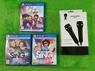ps4 LETS SING GAMES+2 USB Microphones Mics NEW Make A Selection