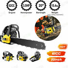 62CC 2-Stroke Gas Powered Chainsaw 20'' 3.5HP Handheld Petrol Gasoline Chain Saw