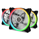 LOT 3 120mm Multicolor Neon Luminous Silent Computer PC Case Fan Sleeve Bearing