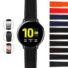 StrapsCo Rubber Band Strap with Deployant Clasp for Samsung Galaxy Watch Active2