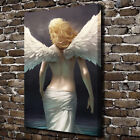 Angel Girl with Wings Poster Canvas Prints Painting Wall Art for Home Decor