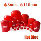 Red 2:1 Heat Shrink End Cap Hot Glue Wire Cable Sealing Cap End Protection