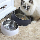 RAISED PET BOWL STAINLESS STEEL  DOG FOOD WATER FEEDING BOWL FEEDER w/ STAND
