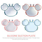 Silicone Suction Plate Divided Dish For Toddlers Highchairs Trays Crab Shaped