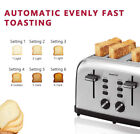 Toaster 4 Slice, Geek Chef Stainless Steel Extra-Wide Slot Toaster