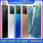7.1'' Drop Screen Android 10.0 Smart Phone 8g+128g Dual Sim Card 5g Note80 Pro