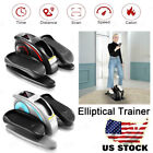 ANCHEER Under Desk Electric Elliptical Machine Compact Pedal Trainer+LCD Monitor