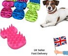 Dog Cat Silicone Massage De-shed Brush Shampoo Gentle Grooming Rubber Moulting