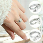 925 Sterling Silver Love Hug Ring Band Open Finger Adjustable Womens Jewelry Uk
