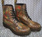 Dr. Martens 1460 Pascal Iridescent Leather Boot Gold Holographic Crackle NIB