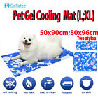 Pet Gel Cooling Mat Self-Cooling Cushion Pad Summer Sleeping Bed for Dog&Cat -US
