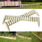 Fixed Log Roll Edging Wooden Border Landscaping Garden Patio Lawn Picket Fence